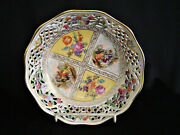 Schumann Dresden Reticulated Bowl From U.s. Zone In Germany Circa 1952