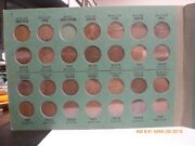 1909-1948 Lincoln Head Cent Collection Set Of Wheat Pennies Missing Svdb