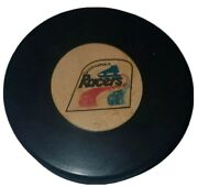 1970s Wha Indianapolis Racers Hockey Old Official Game Puck Rubber Logo