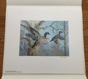 Wtdstamps - 1983 Pennsylvania Duck Stamp Print Ned Smith With Stamp --