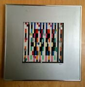 Rare Agam Spaceograph Double Superimposed  Screenprint16 In X 16 In Signed No.