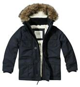 New Abercrombie And Fitch Hollister Men Sentinel Sherpa Parka Jacket Coat- Navy- M
