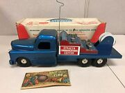 Vintage Structo Mobile Communications Truck 270 Pressed Steel 50's Toy W Box
