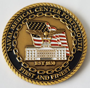 Usn Us Navy Naval Medical Center Portsmouth Virginia First And Finest 1.75 Coin