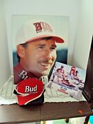 Hydroplane Boat Driver Dave Villwock Miss Budweiser Lot Of 3 Items 2 Photos 1hat