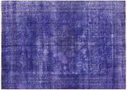 Hand Knotted Overdyed Rug 7and039 4 X 10and039 3- W2626