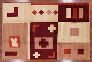 Hand Knotted Gabbeh Wool Rug 6and039 8 X 10and039 3 - P4204