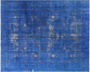 Overdyed Hand Knotted Rug 8' 7 X 10' 9 - P3928