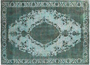 9' 6 X 12' 10 Overdyed Hand Knotted Area Rug- P5331