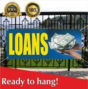 Loans Banner Vinyl /mesh Banner Sign Flag Many Sizes Check Cashing Grocery Store
