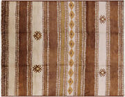 Southwest Navajo Moroccan Handmade Rug 8and039 2 X 10and039 6 - P5493