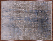 8and039 1 X 10and039 5 Hand Knotted Hi-lo Pile Wool And Silk Rug - P8517