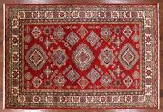 Super Kazak Hand Knotted Wool Area Rug 5and039 7 X 8and039 0 - P8918