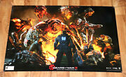 Gears Of War 3 Xbox 360 One Rare Poster Comic Con 2011 Collectible