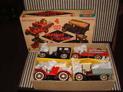 Cragstan Sss Intand039l Nos 4 Piece Gift Set Of Friction Antique Vehicles In Box