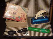 Bandai Rare, Fully Working, Tin Cable Car Battery Operated W/cable And Box