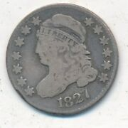 1827 Capped Bust Silver Dime-very Nice Circulated Dime-ships Free Inv2