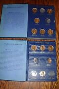 19 Statehood Presidential Art Medals Coins Vol 1 And 2 Bronze And Silver Tone Books