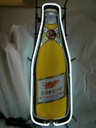 New Miller High Life Beer Bottle Bar Cub Party Man Cave Neon Light Sign 24x14