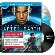 Rare Target Exclusive After Earth 3-discs Blu-ray Dvd Digital Copy Ultraviolet