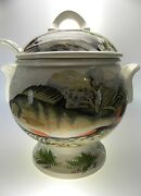 Portmeirion Compleat Angler Soup Tureen With Lid And Ladle