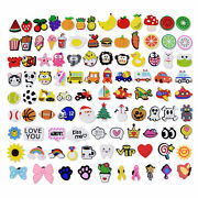 Us Stock 100pcs Different Shapes Shoe Charms Ornaments For Wristbands Party Gift