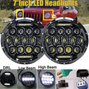 2x7'' Round Led Projector Headlight Drl For Jeep Compass Renegade H4 To H13 Beam
