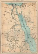 The Egyptian Sudan. Middle East Africa 1885 Old Antique Vintage Map Plan Chart