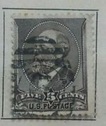 Us Post Stamp 5 Five Cents James Garfield 1882
