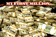 My First Million Poster Money Stacks Poster Choose A Size