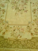 Needle Point Rug Josephine Taupe Hand-cross-stitched Wool French Style 4x6