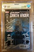 Darth Vader 1 Skottie Young Baby Variant Cbcs 9.8 Signed By David Prowse