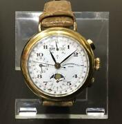 Eberhard And Co. Re-edition Moonphase Triple Date 36018 Hand Winding Menand039s Watch
