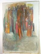 Vintage Abstract Modernist Painting Mid Century New York 1950and039s Wela Imich