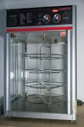 Hatco Fsdt-1 Countertop Hot/heated Food Display Case With 4 Tier Circle Rack