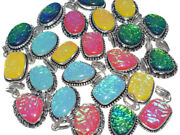 New Lot 200 Pcs. Natural Multi Color Opals 925 Sterling Silver Plated Pendant