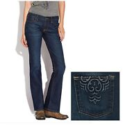 Lucky Brand Boho Embroidered Pocket Sweet N Low Jeans Sz 6/28 Vguc 80