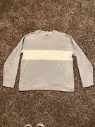 Vintage Menand039s Polo Jeans Co Dry Goods Striped Sweater Grey L