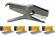 Stanley Bostitch B8 Heavy Duty Plier Stapler Gray With 4 Boxes Of 1/4 Staples