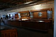 Art Deco Front And Back Full Bar Antique 37and039 Glass Rods Complete