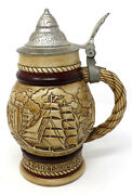 Vintage Avon 1977 Tall Ships Collectors Beer Stein W Lid Hand Made Brazil Vguc
