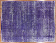 Overdyed Hand Knotted Wool Rug 9and039 9 X 12and039 6 - H8697