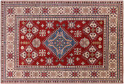 Kazak Hand Knotted Wool Rug 8and039 2 X 12and039 1 - H6332