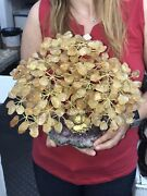 Big Hand Made Sculpture Of Citrine Tree 3 Kg = 6.6 Lbs Free Shipping