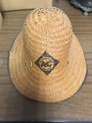 Vintage Allis Chalmers Tractor Straw Farmers Hat