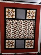 Model-t Ford/vintage/antique Cars Themed Fabric Handmade Quilt-top 54.5 X 68.5