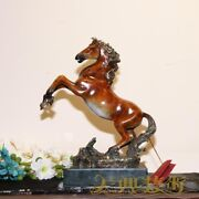 Royal Palace Art Deco Sculpture Fly Horse Bronze Painted Statue Figurine