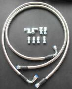 An8 Transmission Cooler Hose Fitting 50 Braided Flexible Ss Lines Gm Chevy Ford