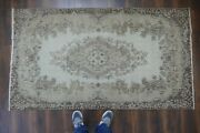 Vintage Turkish Rugwool Antiqueoriental Rugknotted Wool Carpet 3and0399x6and0398 Ft