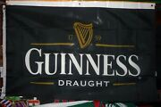 Guinness Draught Beer Flag 3and039 Quality Bar Party Decoration Banner Usa Seller